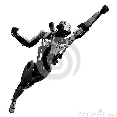 Free Mega Robot Super Drone In A White Background Royalty Free Stock Photo - 138121335