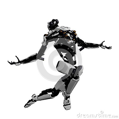 Free Mega Robot Super Drone In A White Background Stock Image - 138121391