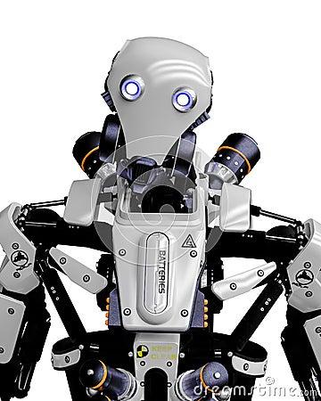 Free Mega Robot Super Drone In A White Background Stock Photo - 138121420