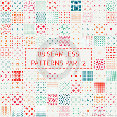Free Mega Set Of 88 Colorful Geometric Universal Different Seamless Decorative Patterns. Wrapping Paper. Scrapbook Paper Royalty Free Stock Photo - 67534385