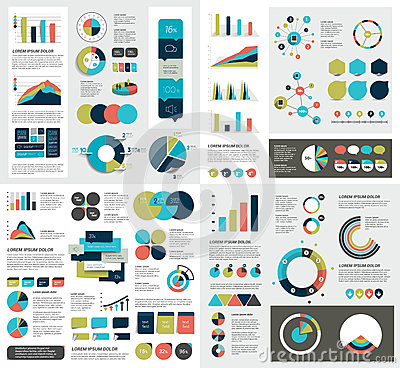Free Mega Set Of Infographics Elements Charts, Graphs, Circle Charts, Diagrams, Speech Bubbles. Flat And 3D Design. Royalty Free Stock Image - 67915486