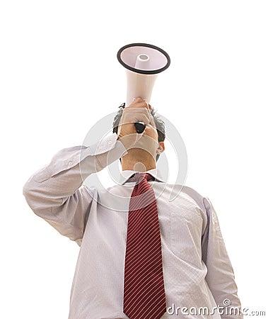 Megafonu mówca