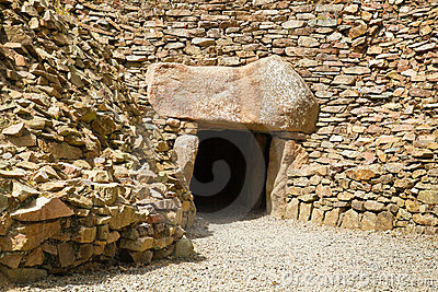 Megalithic tomb of La Hougue Bie, Jersey, UK