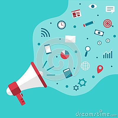 Free Megaphone Announce Business Digital Marketing Vector Royalty Free Stock Photos - 138765678