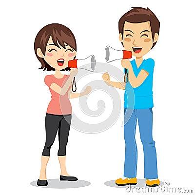 Megaphone Couple