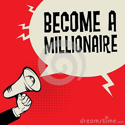 Free Megaphone Hand, Business Concept With Text Become A Millionaire Royalty Free Stock Photos - 114951578
