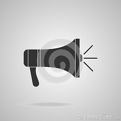 Free Megaphone Icon. Loudspeaker Isolated Royalty Free Stock Photo - 53573985
