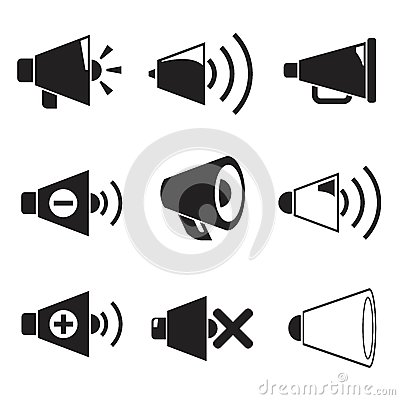 Free Megaphone Icons Stock Images - 40849354