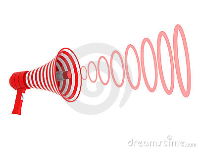 Megaphone and red rings