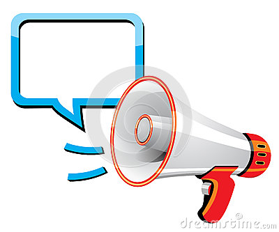 Megaphone speech templates for text