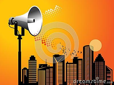 Megaphone urban