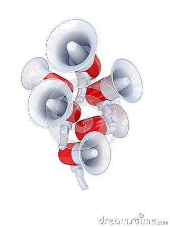 Megaphones composition.