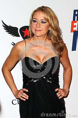 Megyn Price arrives at the 19th Annual Race to Erase MS gala Editorial Stock Image