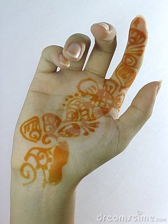 Mehendi on the Palm