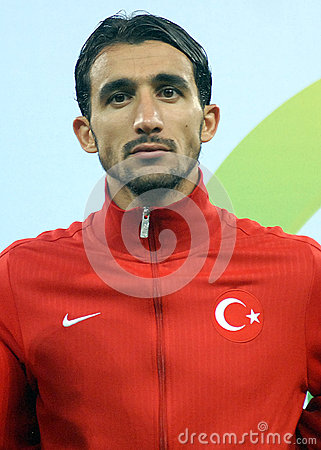 Mehmet Topal in Romania-Turkey World Cup Qualifier Game Editorial Stock Image
