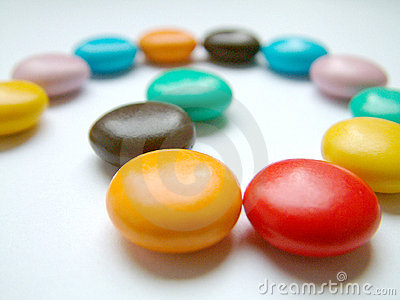 Mehrfarbige Bonbons