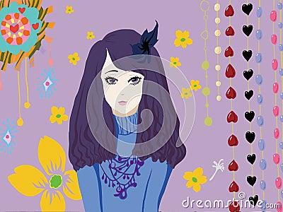 Meisje en bloem