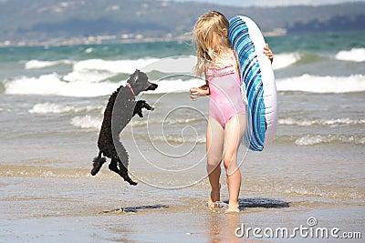 Meisje en hond