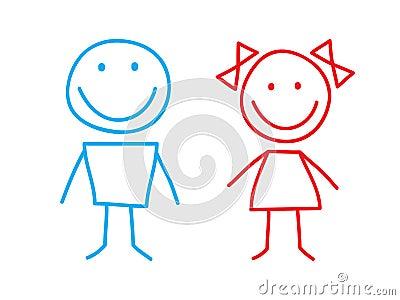 Meisje en jongen stock fotografie afbeelding 15385042 - Set van jongens en meisjes ...