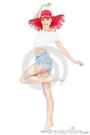 Meisje met rode hoed