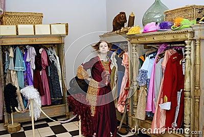 Meisje in museum