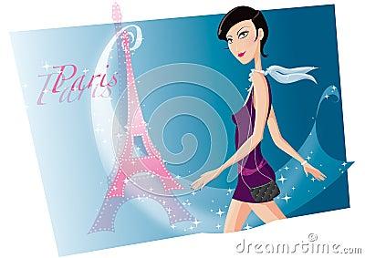 Meisje in Parijs