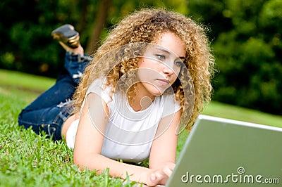 Meisje in Park