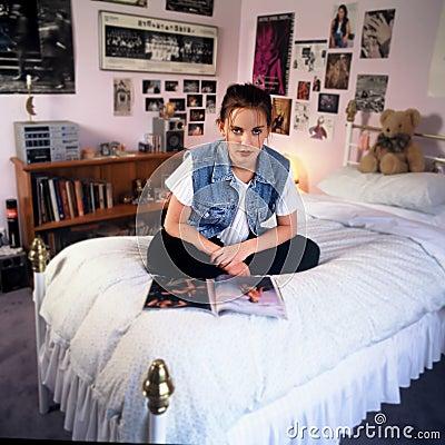 Meisje in slaapkamer royalty vrije stock afbeelding afbeelding 511856 - Thema slaapkamer meisje ...