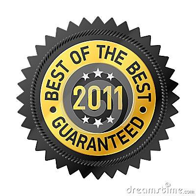 Mejor de la escritura de la etiqueta del mejor 2011