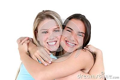 Mejores amigos sobre blanco