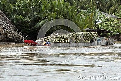 Mekong River Barge