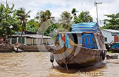Mekong rzeki sceneria