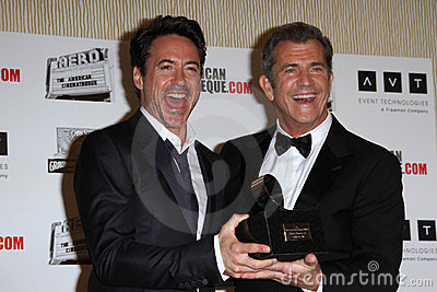 Mel Gibson, Robert Downey Jr, Robert Downey Jr., Robert Downey, Jr. Editorial Image