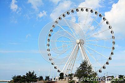 Melaka Ferris Wheel At Seaside