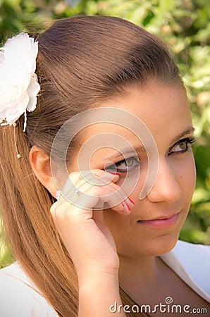 Melancholic bride portrait
