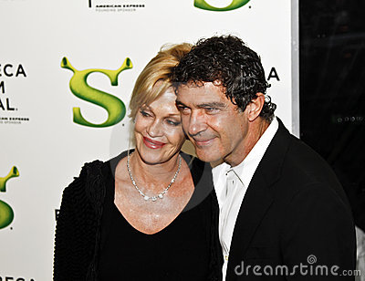 Melanie Griffith; Antonio Banderas Editorial Stock Photo