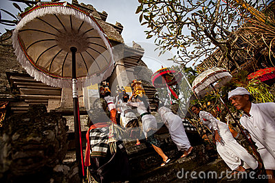 Melasti Ritual on Bali island Editorial Stock Image