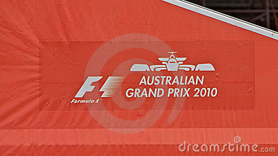 Melbourne 2010 Formula One, banner Editorial Photography