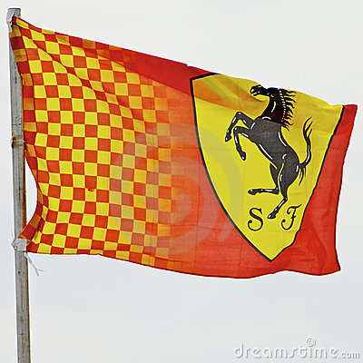 Melbourne 2010 Formula One, Ferrari flag Editorial Stock Image