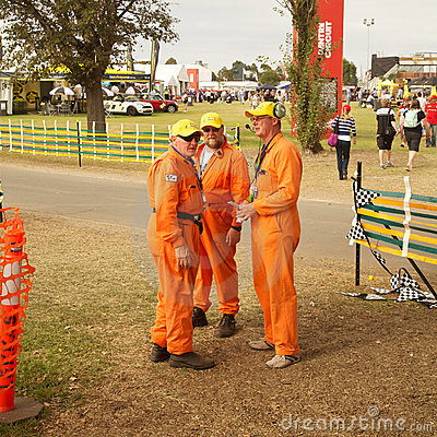 Melbourne 2010 Formula One. Mechanics and grounds Editorial Stock Image