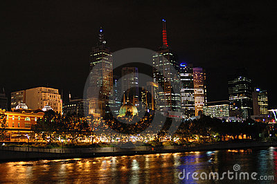 Melbourne city at night (II)