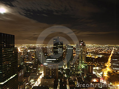 Melbourne City Night Skyline