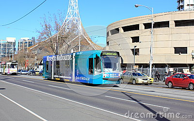 Melbourne city transport Editorial Photo