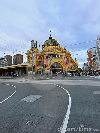 Melbourne, Flinders Street Station Editorial Stock Image