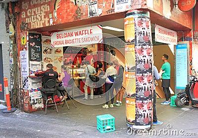 Melbourne lane culture Editorial Photo
