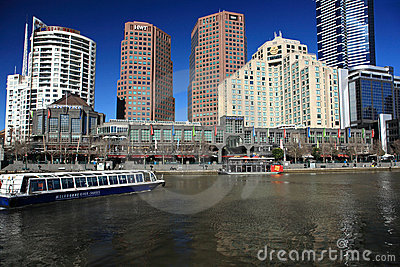 Melbourne skyline Editorial Photo