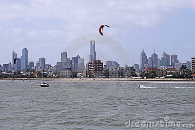 Melbourne Skyline Editorial Image