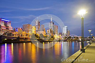 Melbourne Skyline at Twilight