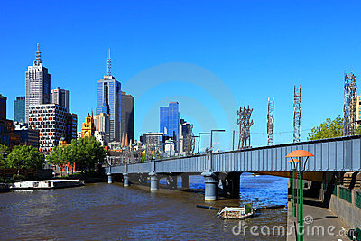 Melbourne - Yarra River Editorial Photo