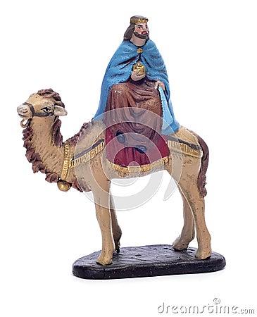 Melchior Magi riding a camel